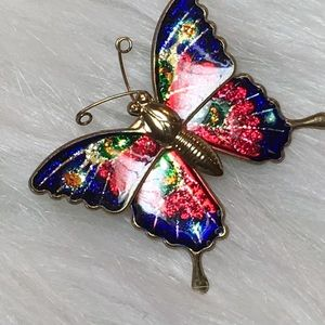 Vintage Moveable Butterfly Pin